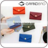 Office Stationery Synthetic PU Leather Change Purses Makeup Bag Bussiness Name Card holder for Ladies