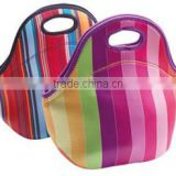 Neoprene woman Tote Portable Lunch Box, custom design and nice printing,large capacity bag