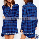 china wholesale nightshirts 100% cotton sexy women plaid flannel nightshirt                                                                         Quality Choice                                                     Most Popular