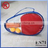 Table tennis set/table tennis racket/ ping pong racket zipper double compartment cheap pingpong racket bag for package