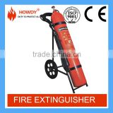 China 50kg carbon dioxide fire extinguisher wheeled CO2 fire fighting equipment with valve