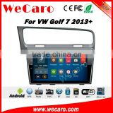 Wecaro WC-VG1028 10.2 inch android 4.4/5.1 car audio system for vw golf 7 car multimedia 2013 + Wifi 3G GPS Radio RDS Navigation