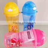 water bottle with bharara small magic fairy for kids,water bottle with hand holding and straw