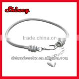 high quality 3mm snake chain bracelet with Heart Charm wholesale