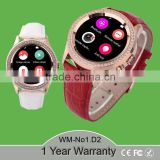 "Beautiful Gift New Ladies Smart Watch diamond D2, MTK 2502,Support IOS Android,1.22"" IPS,Heart Rate"