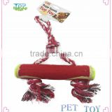 Chew Dog toy rope with tennis ball Braided Bone Knot Toys products Playing,dog rope toy