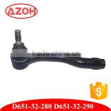 Genuine Mazda ball jiont connect Tie Rod Rack End Kit D651-32-280 , D651-32-290 for Mazda 2 DE 2007-2010