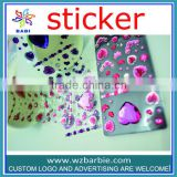 acrylic stone diamond shaped mirror sticker