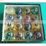 Sparkle Resin Pool Billiard Ball Billiard Accessories