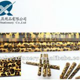 Round Shape HB standard wooden Korean tattoo pencil with eraser, animal print available, non sharpening