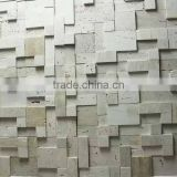 natural beige travertine ledge stone, beige travertine culture stone, beige travertine wall cladding panel