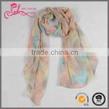 digital print custom design silk feel scarf, custom design digital printing modal voile scarves for women