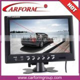 Digital 9 inch lcd monitor rearview mirror monitor key touch support remote control and 1-4 cameras