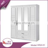 Hotel bedroom furniture simple wardrobe designs wooden drawer almirah with four door                                                                         Quality Choice