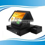 "New 15"" tablet touch screen Android pos terminal with double screen all in one pos terminal"