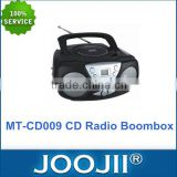 Good Quality Lowest Price Portable CD AM/FM Radio Cassette Boombox with AUX IN Jack Support 20-track Programmable Memory