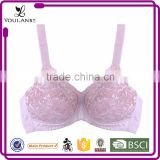 Hot Romantic Fashion Hot Lady Brown Old Women Bra