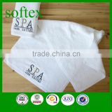 luxury white cotton embroidery hotel & spa facial towels