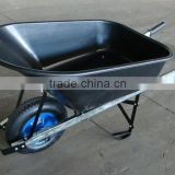 Qingdao manufactory big capacity tray easy to assemble wheelbarrow for garden tools WB7801