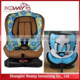 Multi-buckle five point harness baby safety seat