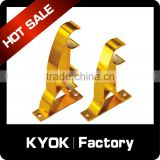 KYOK 19mm aluminum spring tension rod bracket,22mm curtain wall bracket,wholesale price customize curtain bracket