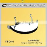 high quality gridwall glass hanger metal glass accessories glass display clamp