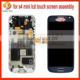 original new For Samsung Galaxy S4 mini i9190 +Frame Blue Touch Screen Digitizer LCD Display