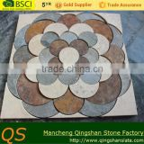 natural marble stone with nature slate floor flower mosaic tile