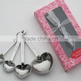 Stainless Steel Measuring spoon in heart shape