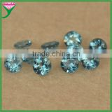 wholesale price various shapes 4mm round diamond cut natural london blue topaz beads