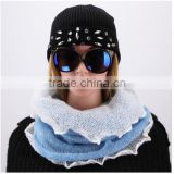 Unique latest design real raccoon fur poms braid lady earflap hat china wholesale knitting hats