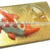 Colorful goldfish pudding moulds