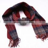 100% Wool BLUE&RED CHECKED STOLE