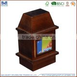 High quality funeral product rectangular wooden urn ,wooden cremation ashes urn