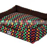 quality suede dog bed/Factory Direct Wholesale High Quality Various Fabric and Pattern Pet Bed