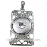 CJ3024 metal pendants for jewelry making,square charm brass pendant