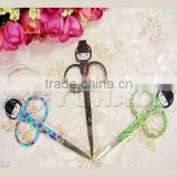 2013 Collection!!Ladies Multicolor Fancy&Funny Mini Spring Hair Scissors