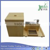 Alibaba express china hot sale bamboo bathroom accessory set                                                                         Quality Choice