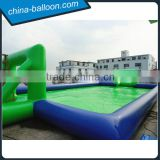 popular inflatable sport court,inflatable soap soccer field,giant football court for outdoor game