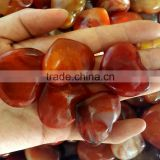 Small Red Agate Giveaway Stone Hearts Raw Agate Pendants Jewelry
