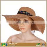 Women Summer Beach Sun Floppy Brim Straw Cowboy Hat For Sale