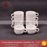 Stacked Cheap Bulk Customized Logo White Small Ceramic Coffee Mugs Cups