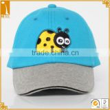 100% cotton soft 6 panel embroidered bee baby caps