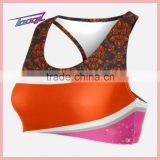 custom-made Cheerleading sport bra low MOQ