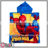 100% cotton wholesale spiderman hooded baby bath towel pattern