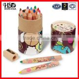 Cute factory price kraft paper pencil box for children,packaging kraft paper tube for pencil