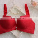 red fashional one piece bra with padded foam