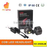 Car accessories shops H3 Led Headlight Bulbs H4 H7 H9 H13 9005 9006 30W 2500LM High Power LED Car Headlight