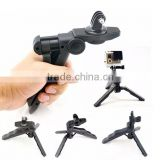 Factory Portable Mini Plastic Foldable Photography Tripod Desk Mounting Bracket for Gopros Camera
