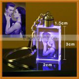 Personalized Keychain 3D Laser Engraved Wedding Photo Crystal For Guest Takeaway Gifts Souvenir
